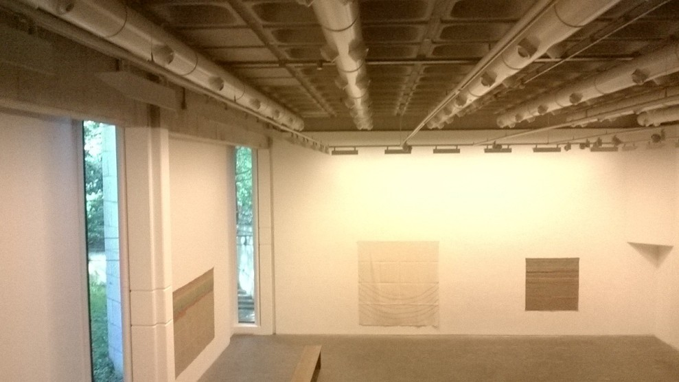 (Sneaky) Interior shot of Douglas Hyde Gallery featuring the work of 'Griffa'.